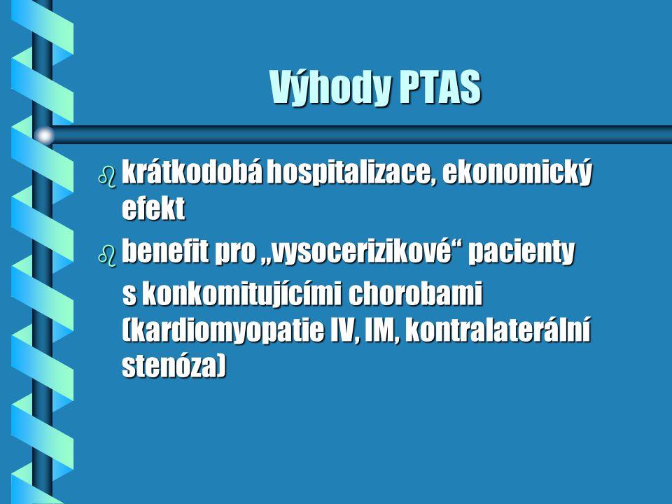 Výhody PTAS krátkodobá hospitalizace, ekonomický efekt
