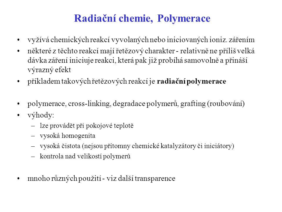 Radiační chemie, Polymerace
