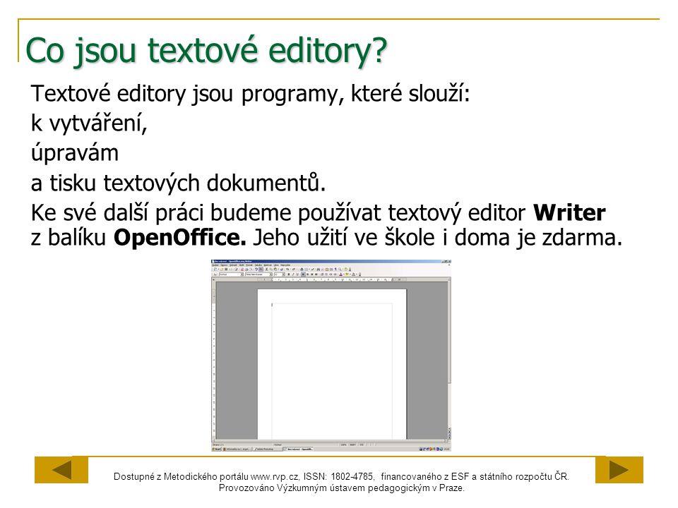 Co jsou textové editory