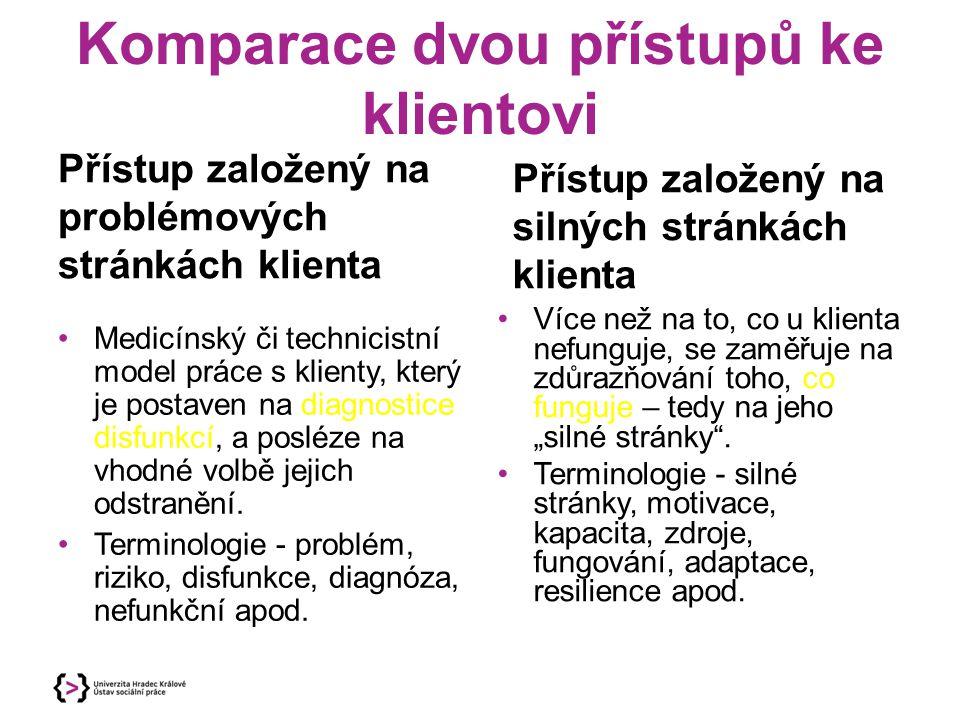 Komparace dvou přístupů ke klientovi