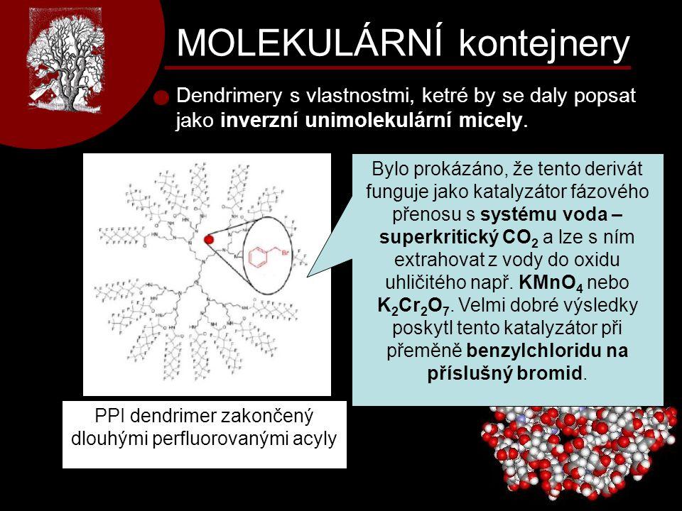 PPI dendrimer zakončený dlouhými perfluorovanými acyly