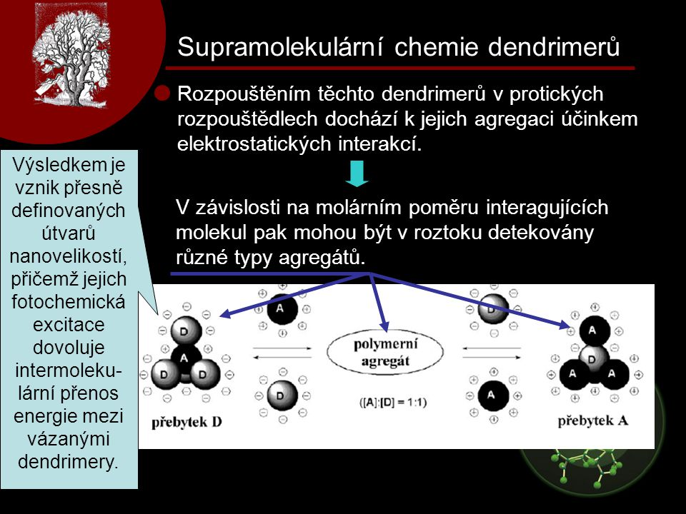 Supramolekulární chemie dendrimerů