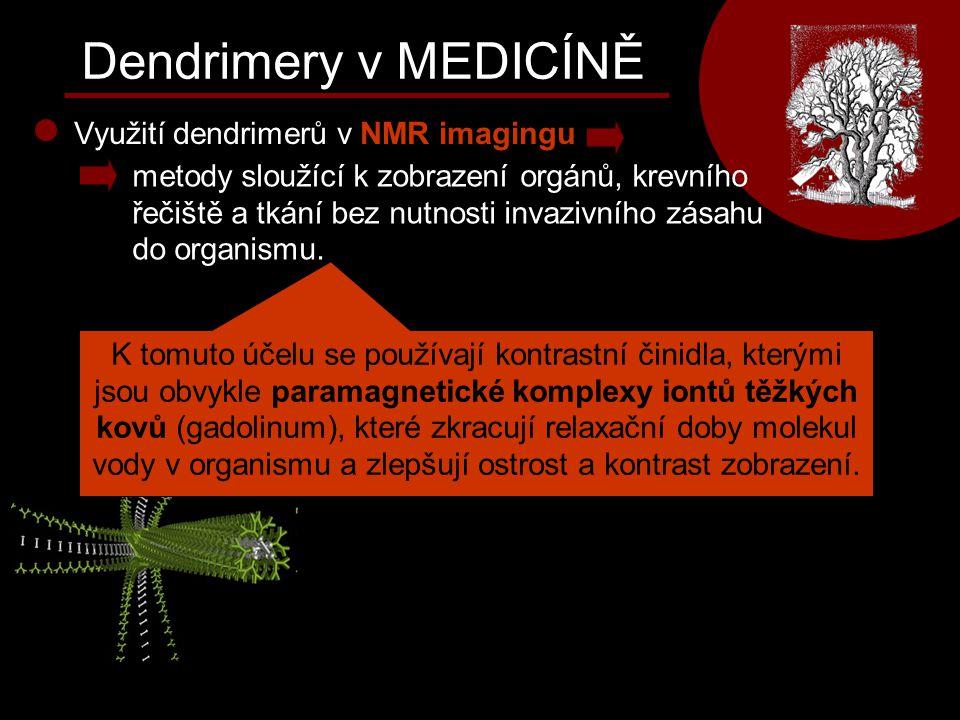 Dendrimery v MEDICÍNĚ Využití dendrimerů v NMR imagingu