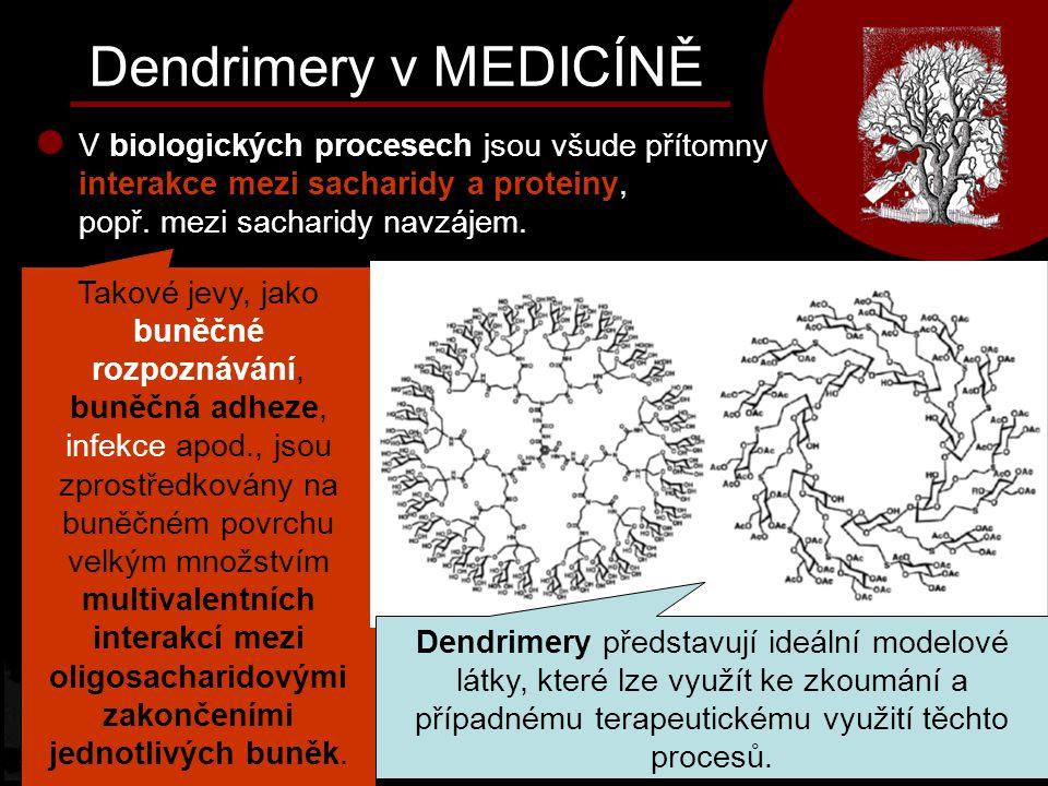 Dendrimery v MEDICÍNĚ V biologických procesech jsou všude přítomny