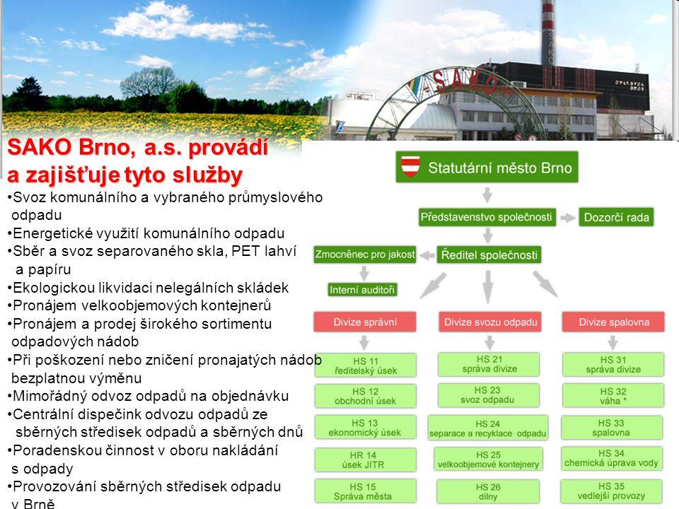 SAKO Brno, a.s. provádí a zajišťuje tyto služby