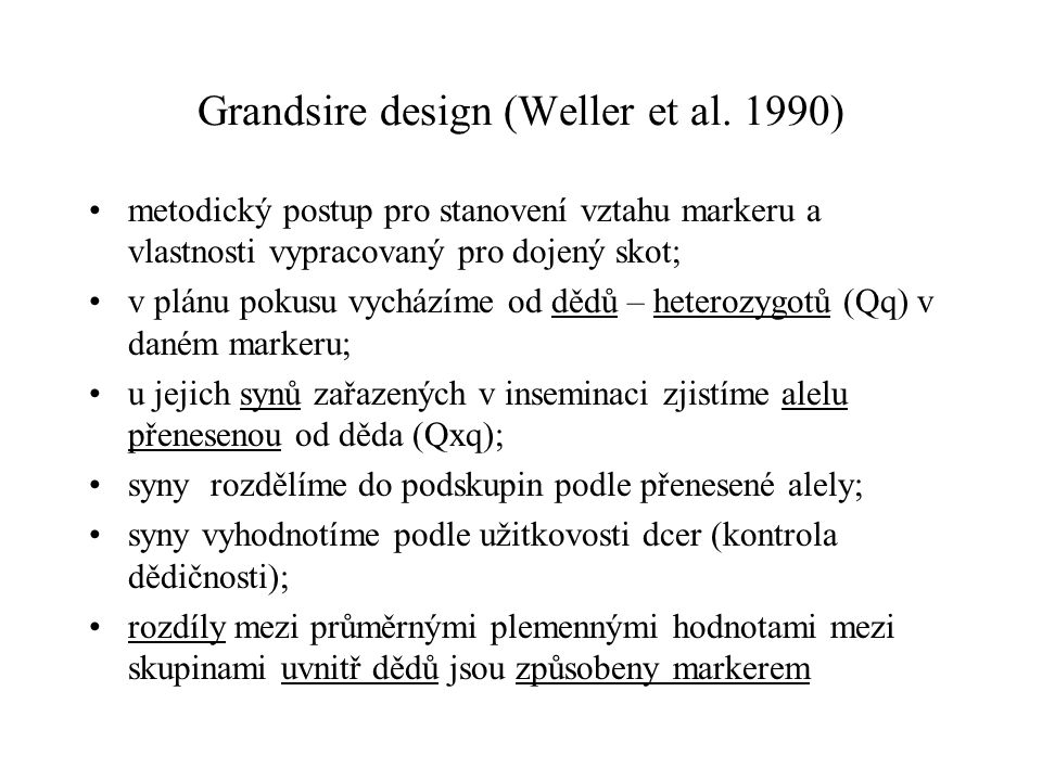 Grandsire design (Weller et al. 1990)