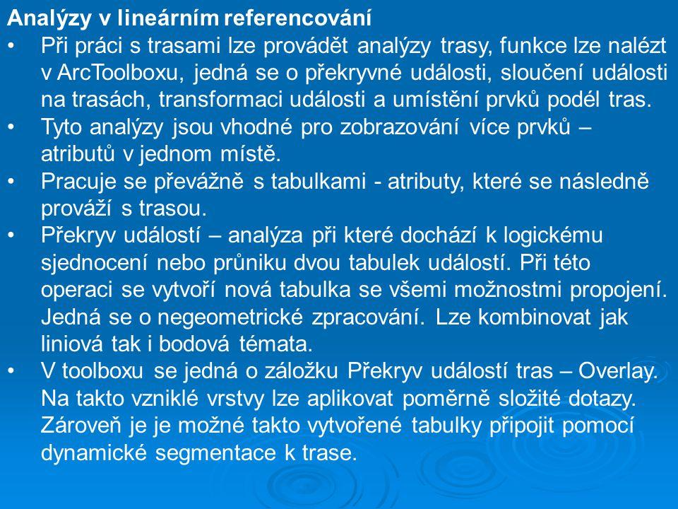Analýzy v lineárním referencování