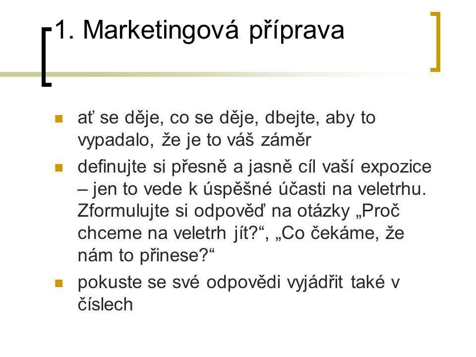1. Marketingová příprava