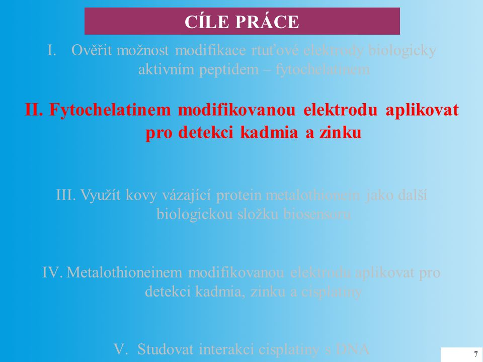 Studovat interakci cisplatiny s DNA