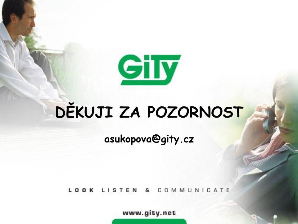DĚKUJI ZA POZORNOST asukopova@gity.cz