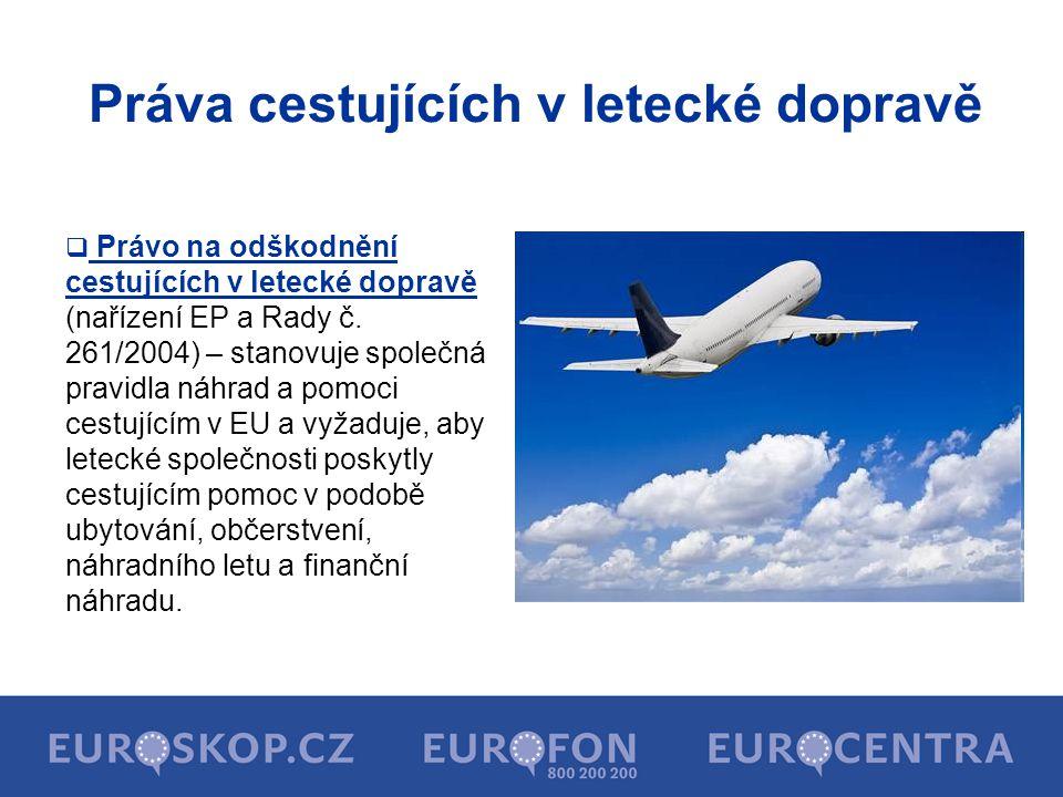 Práva cestujících v letecké dopravě
