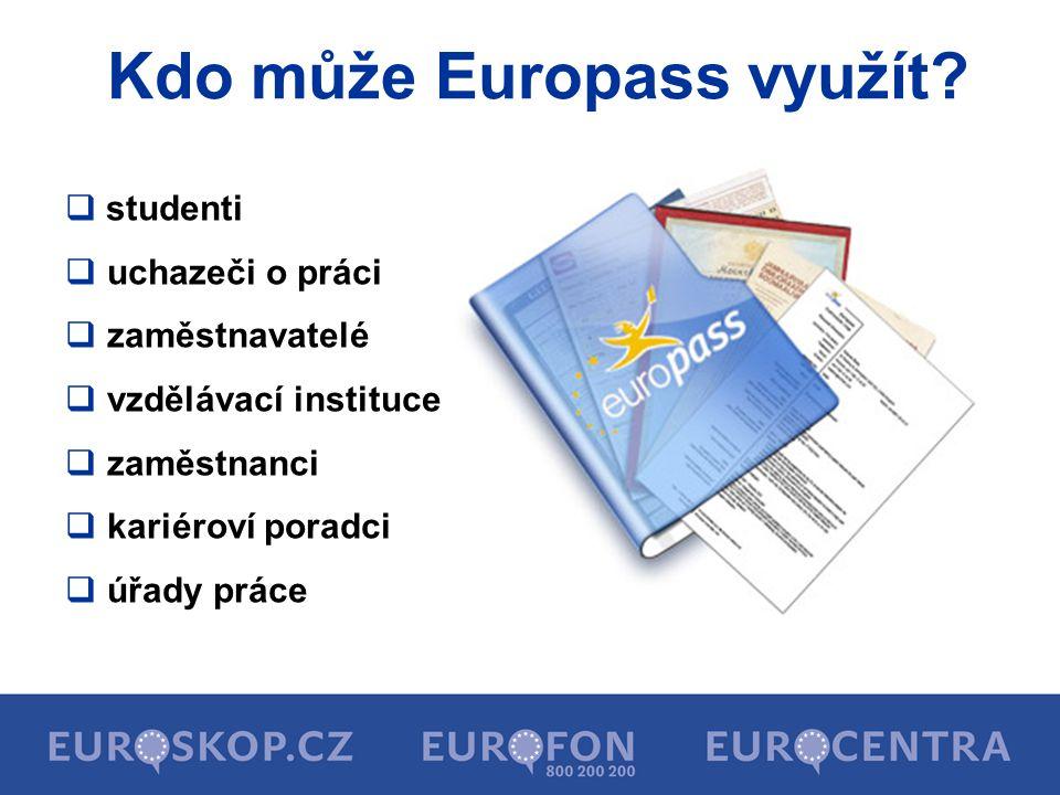 Kdo může Europass využít