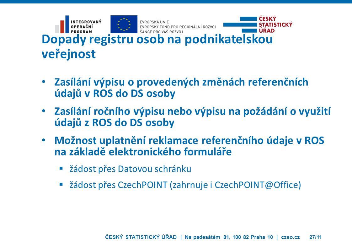 Dopady registru osob na podnikatelskou veřejnost