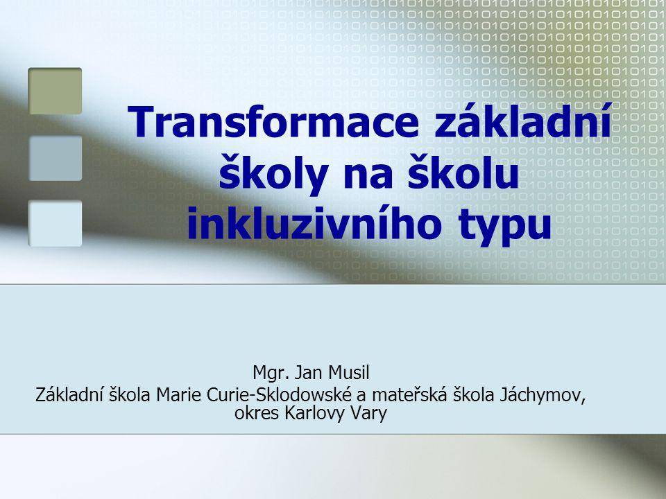 Transformace základní školy na školu inkluzivního typu