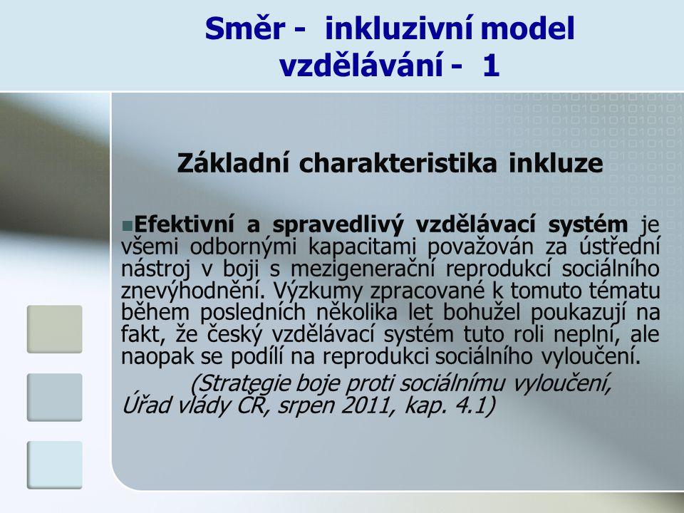 Směr - inkluzivní model vzdělávání - 1
