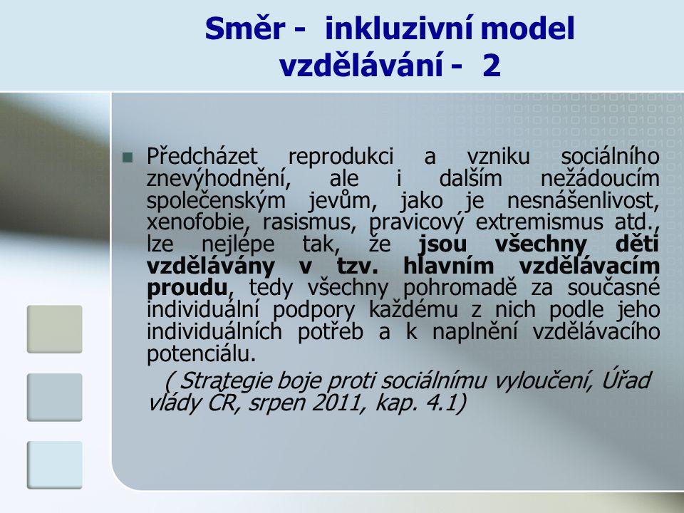 Směr - inkluzivní model vzdělávání - 2