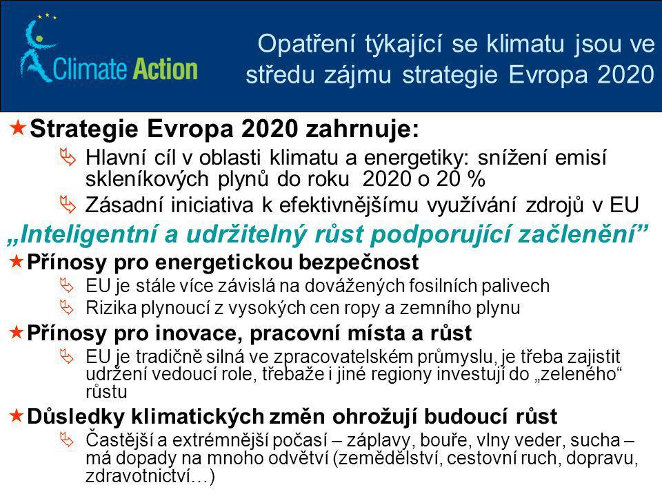 Strategie Evropa 2020 zahrnuje: