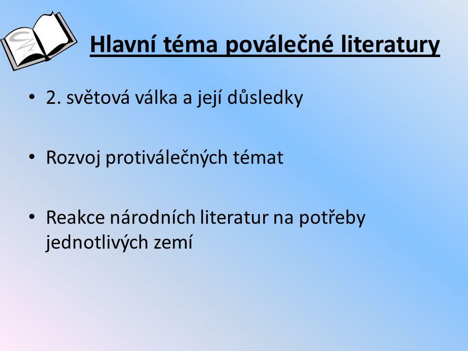 Hlavní téma poválečné literatury