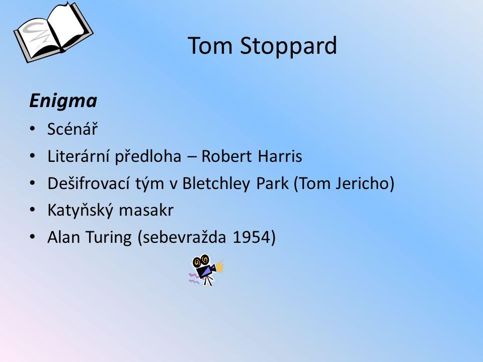 Tom Stoppard Enigma Scénář Literární předloha – Robert Harris