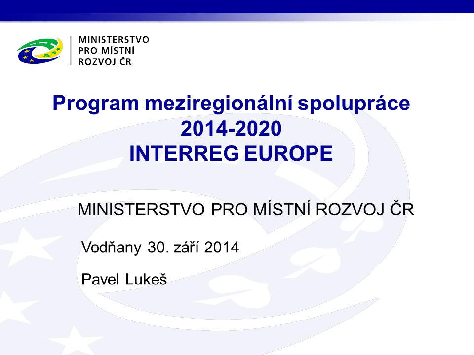Vodňany 30. září 2014 Pavel Lukeš