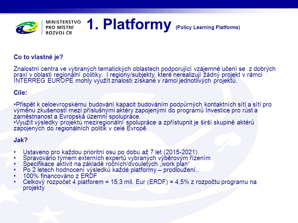 1. Platformy (Policy Learning Platforms)