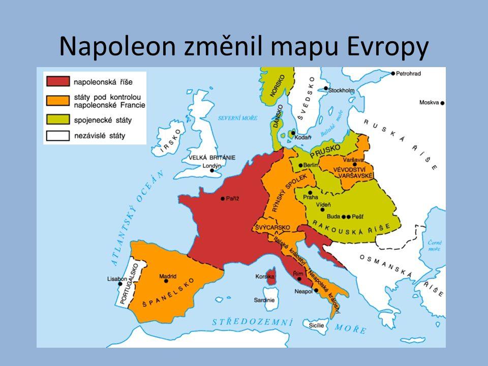 Napoleon změnil mapu Evropy
