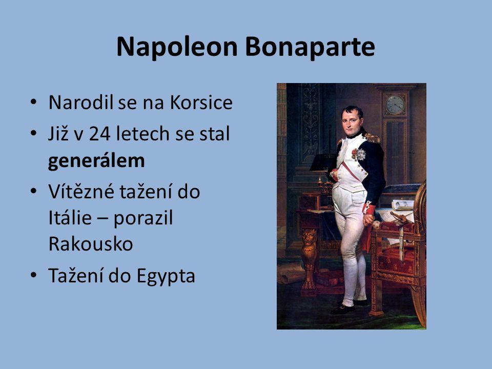Napoleon Bonaparte Narodil se na Korsice