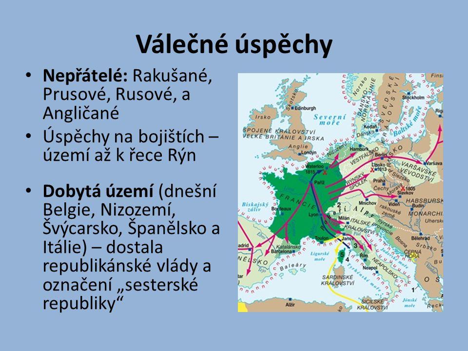 Válečné úspěchy Nepřátelé: Rakušané, Prusové, Rusové, a Angličané