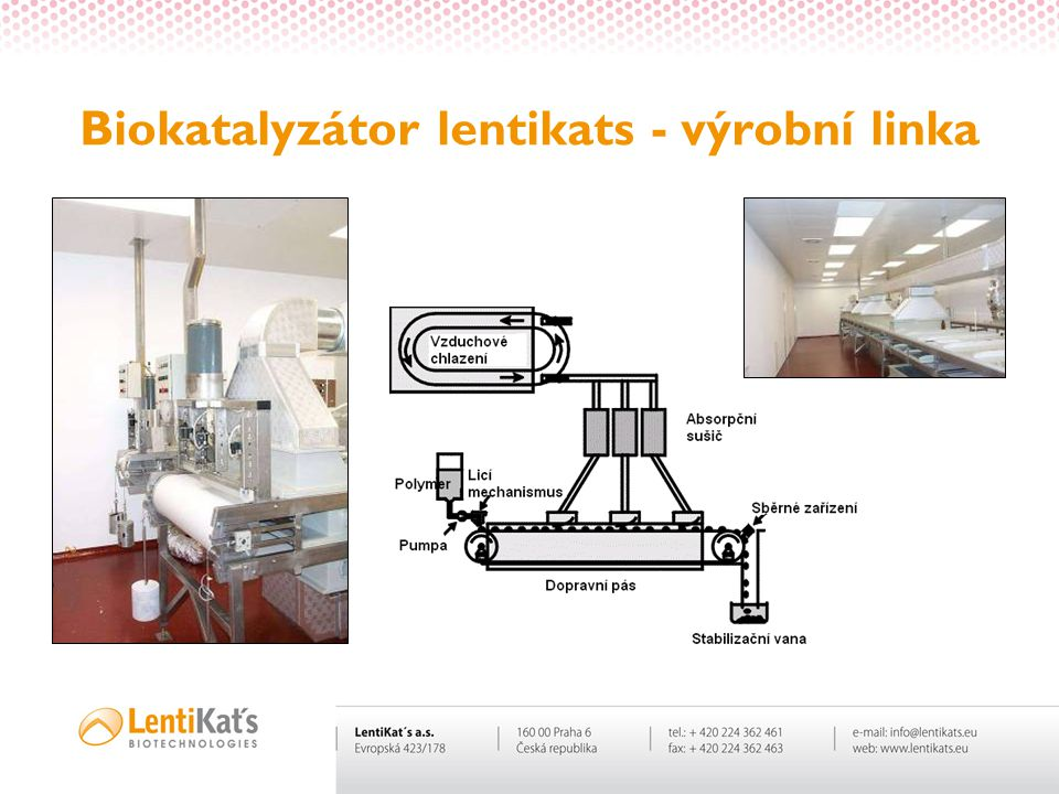 Biokatalyzátor lentikats - výrobní linka