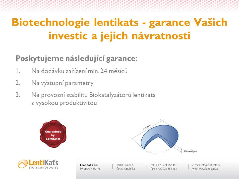 Biotechnologie lentikats - garance Vašich investic a jejich návratnosti
