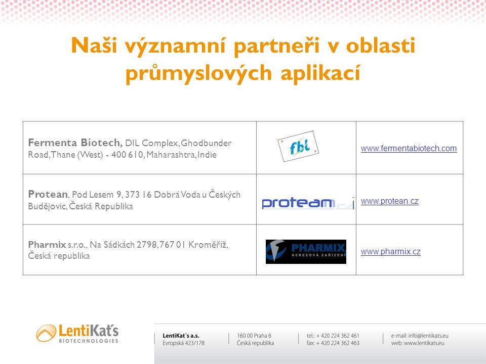 Naši významní partneři v oblasti průmyslových aplikací
