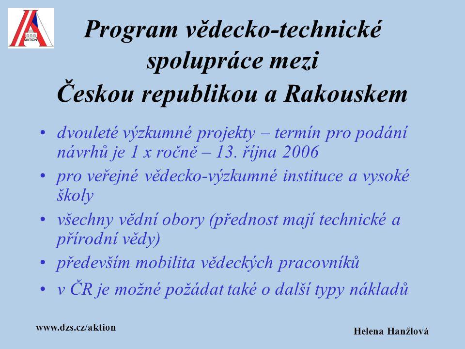 Program vědecko-technické spolupráce mezi Českou republikou a Rakouskem