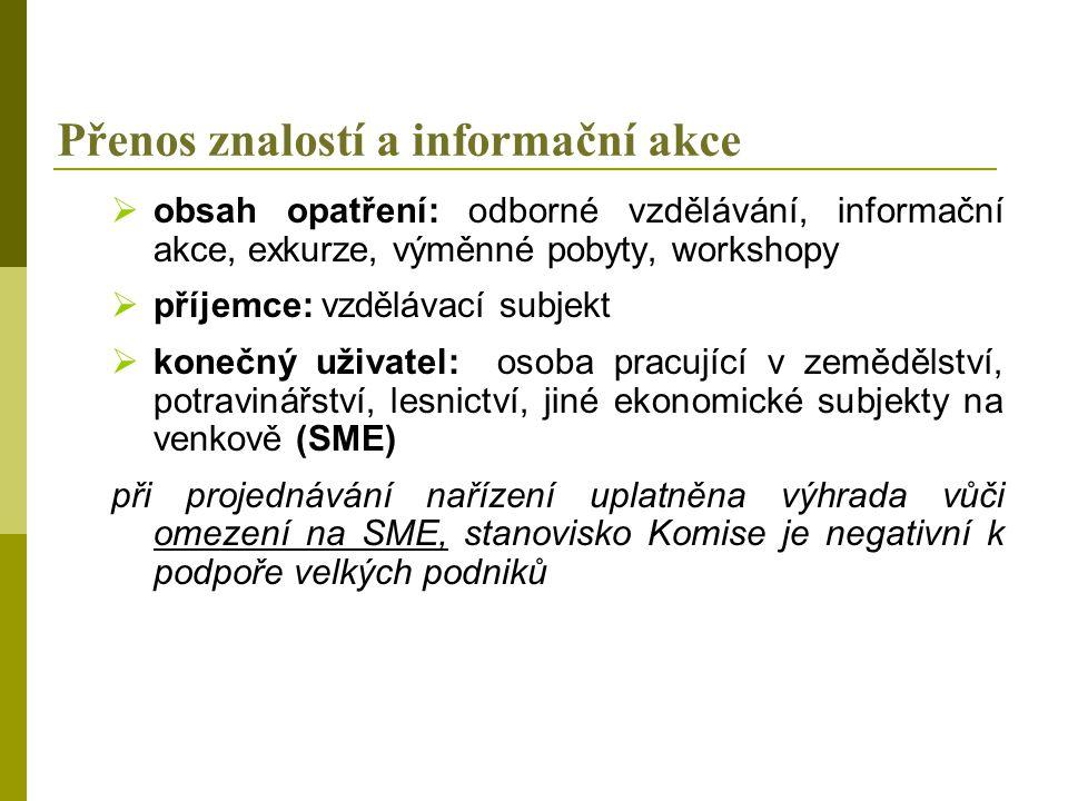 Přenos znalostí a informační akce