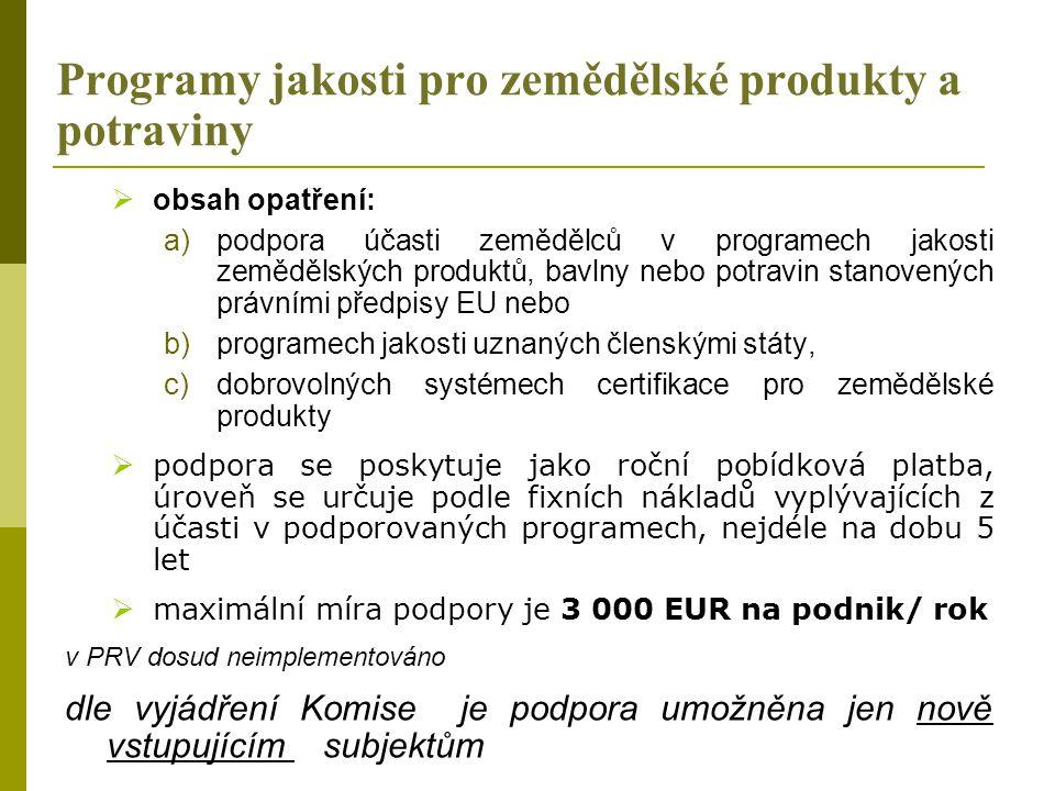 Programy jakosti pro zemědělské produkty a potraviny