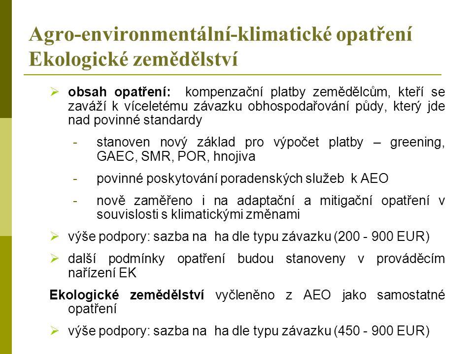 Agro-environmentální-klimatické opatření Ekologické zemědělství