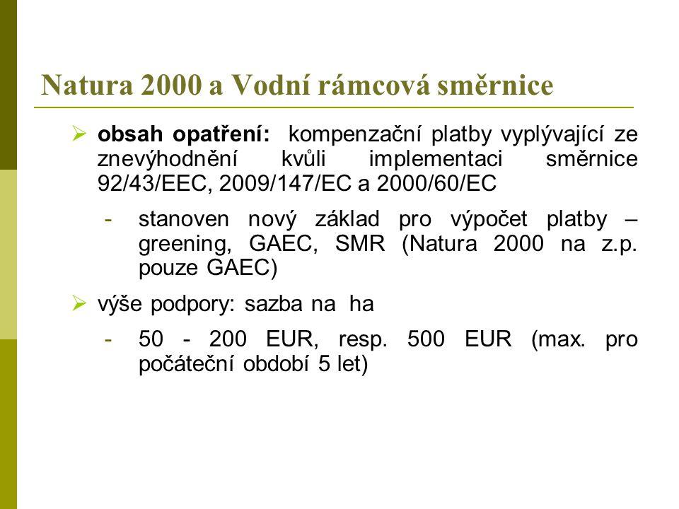 Natura 2000 a Vodní rámcová směrnice