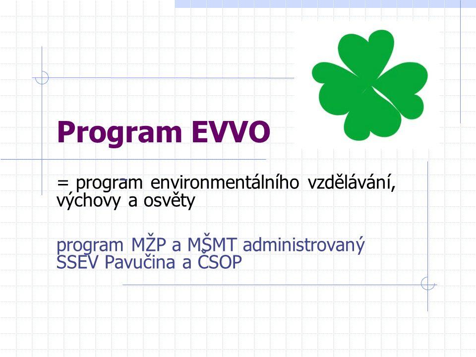 Program EVVO = program environmentálního vzdělávání, výchovy a osvěty
