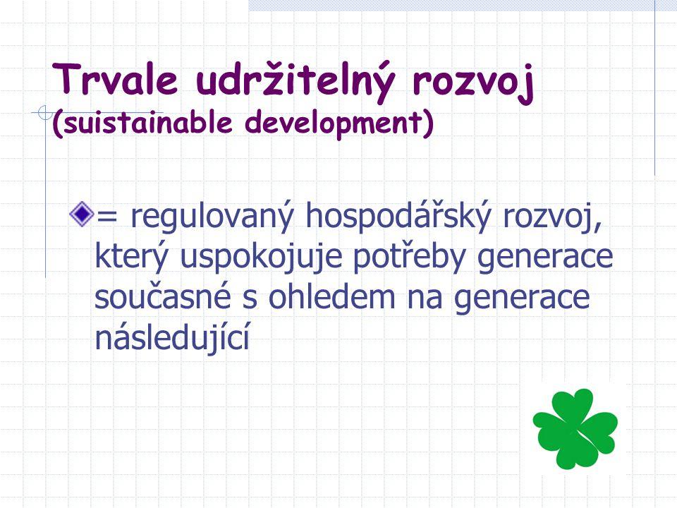 Trvale udržitelný rozvoj (suistainable development)