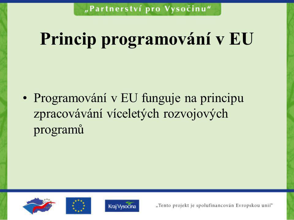 Princip programování v EU