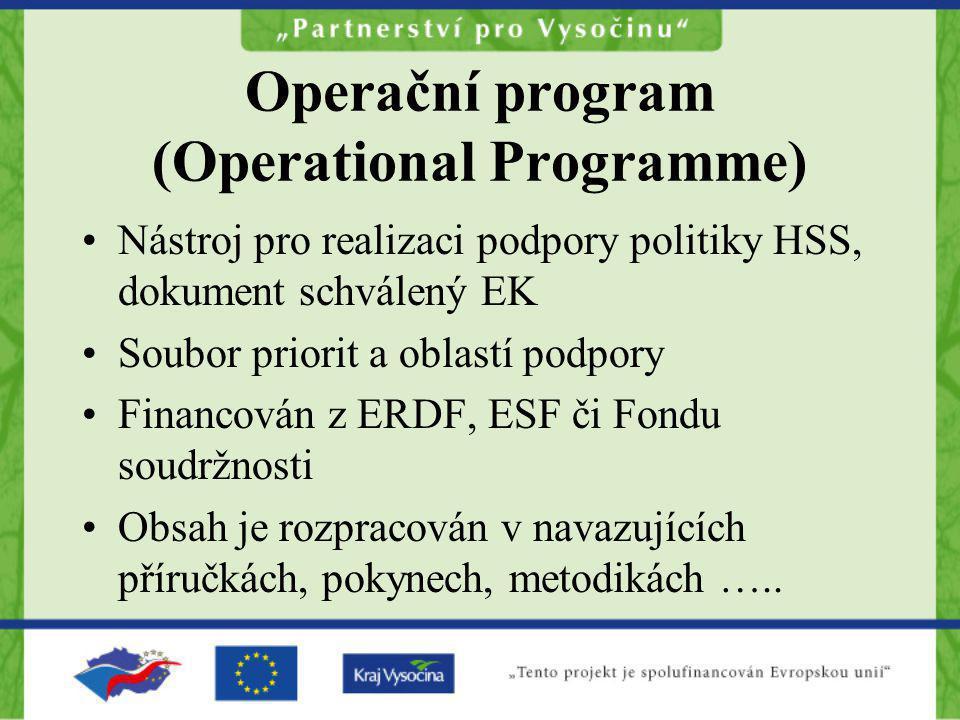 Operační program (Operational Programme)