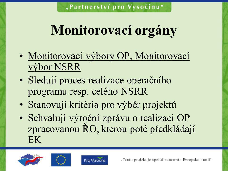 Monitorovací orgány Monitorovací výbory OP, Monitorovací výbor NSRR