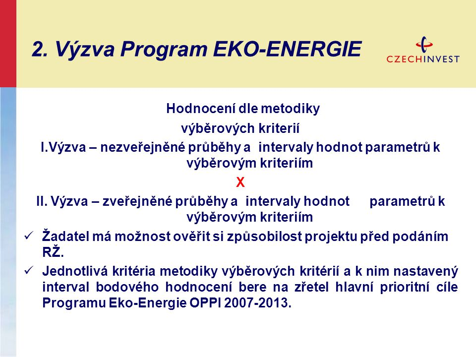 2. Výzva Program EKO-ENERGIE