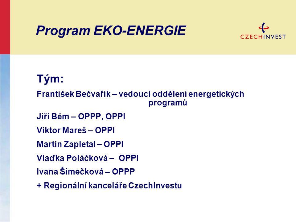 Program EKO-ENERGIE Tým: