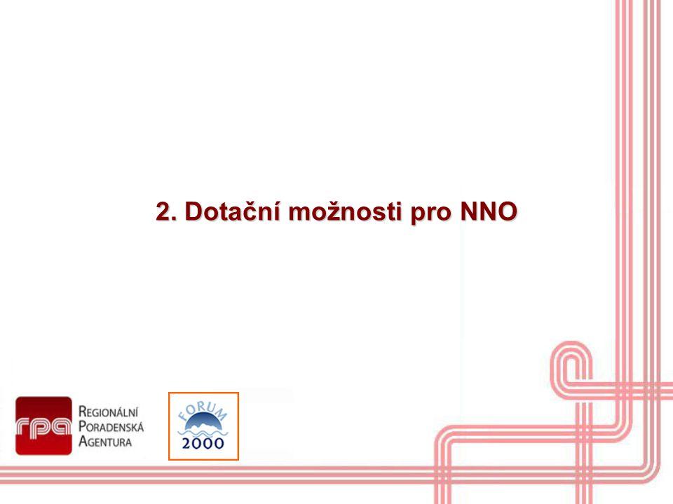 2. Dotační možnosti pro NNO