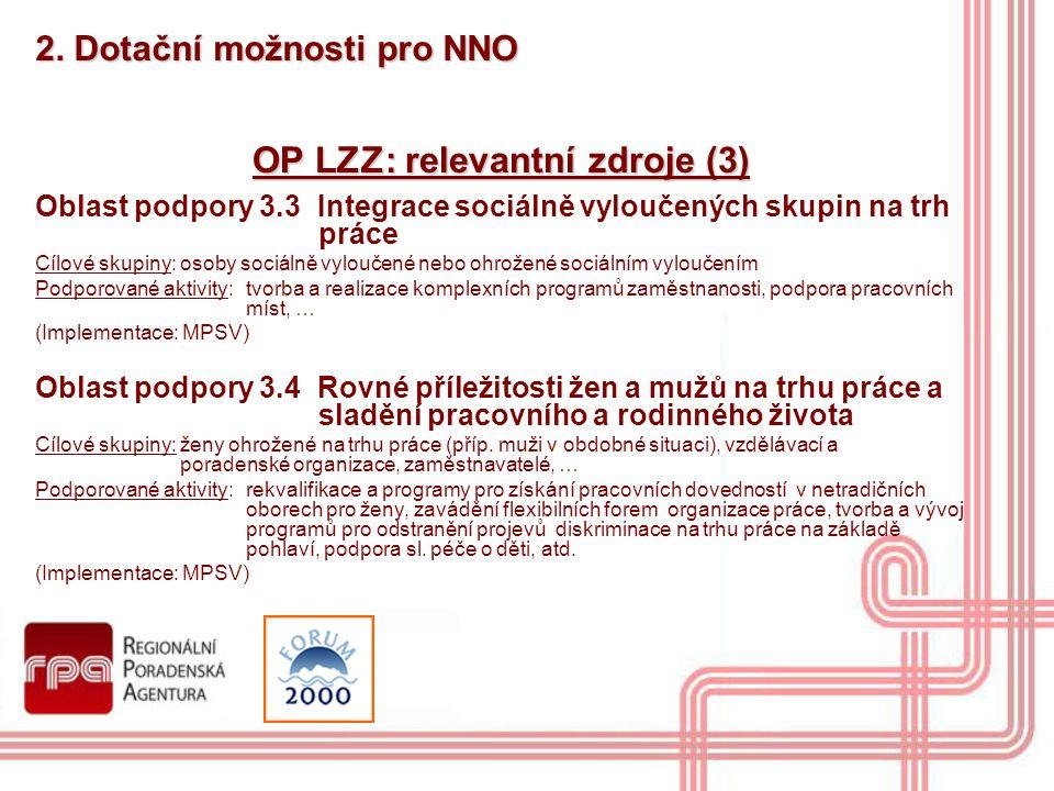 OP LZZ: relevantní zdroje (3)