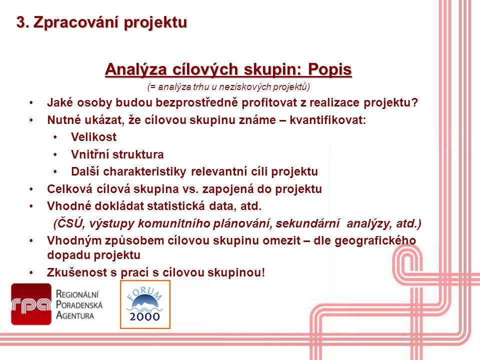 Analýza cílových skupin: Popis