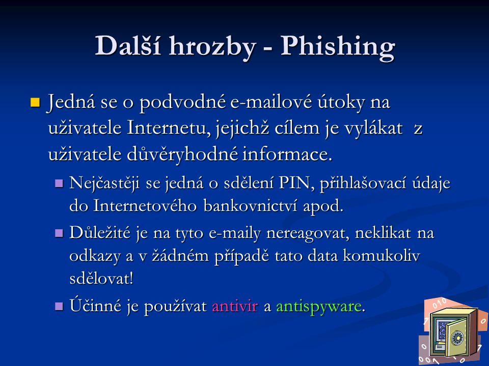 Další hrozby - Phishing
