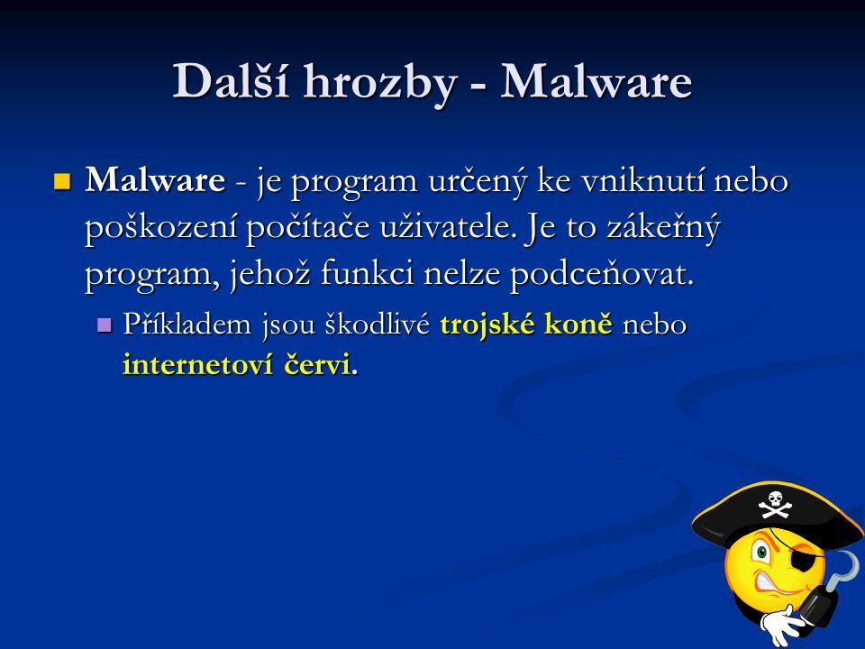Další hrozby - Malware