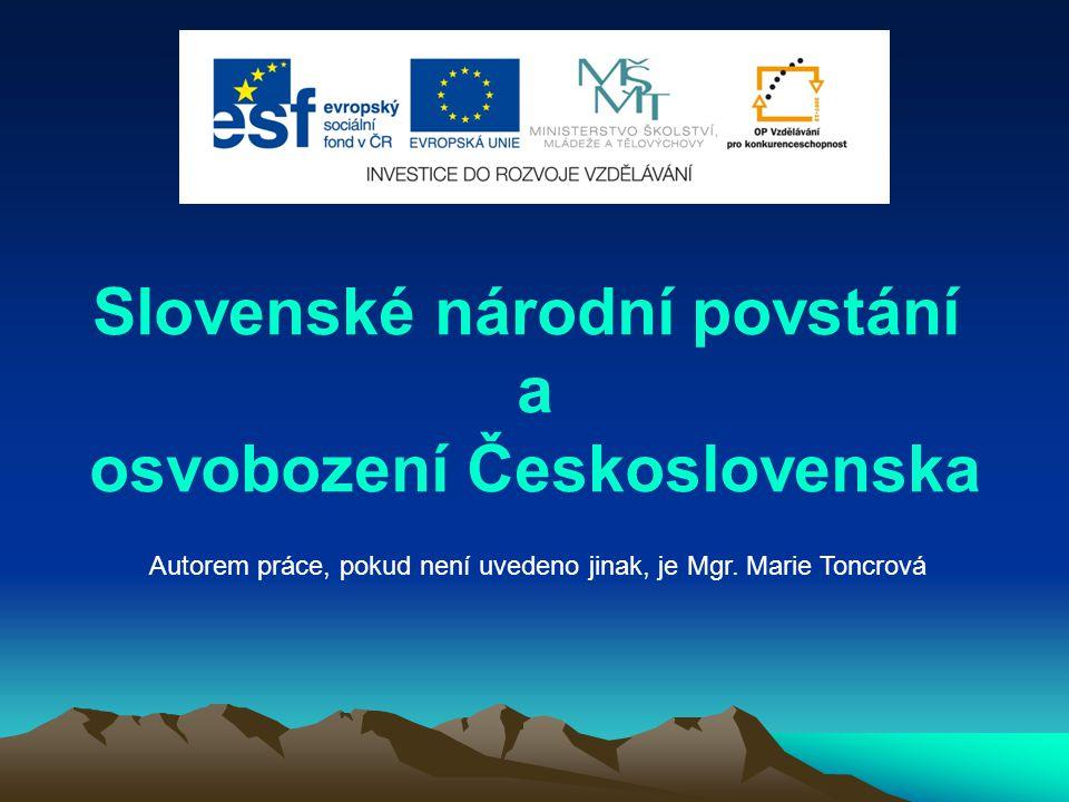 Slovenské národní povstání a osvobození Československa