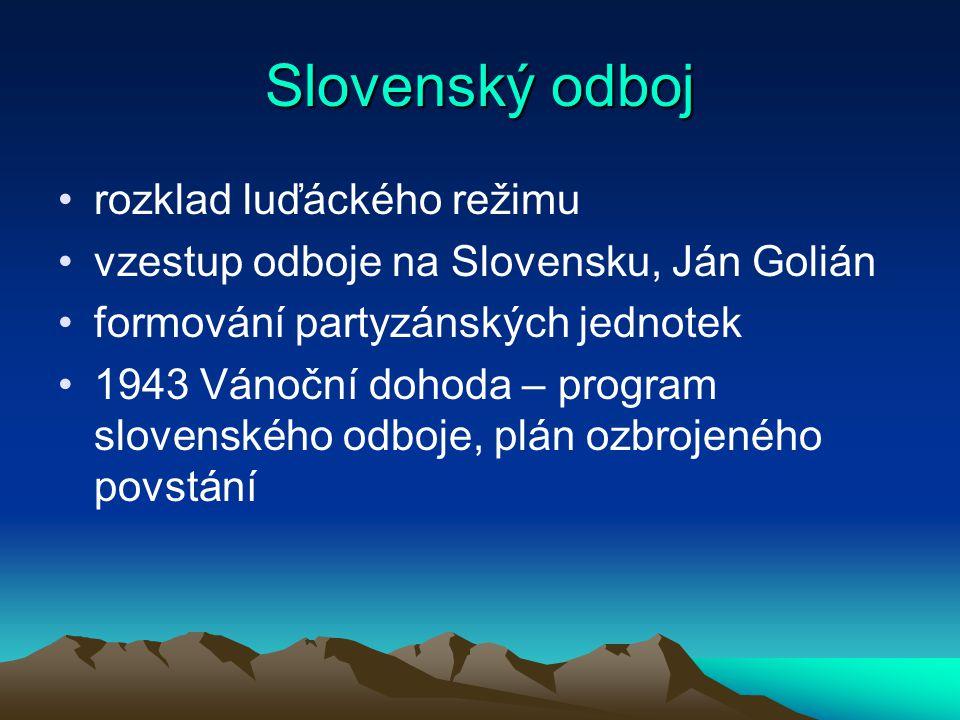 Slovenský odboj rozklad luďáckého režimu
